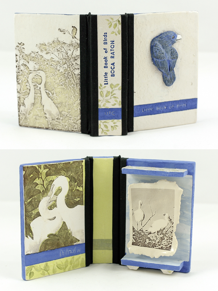 Little Book of Birds Urban Treasure Collection /BOCA RATON, ceramic, underglaze, glaze, Costum Decals, linen bookcloth, 2015, 250 €