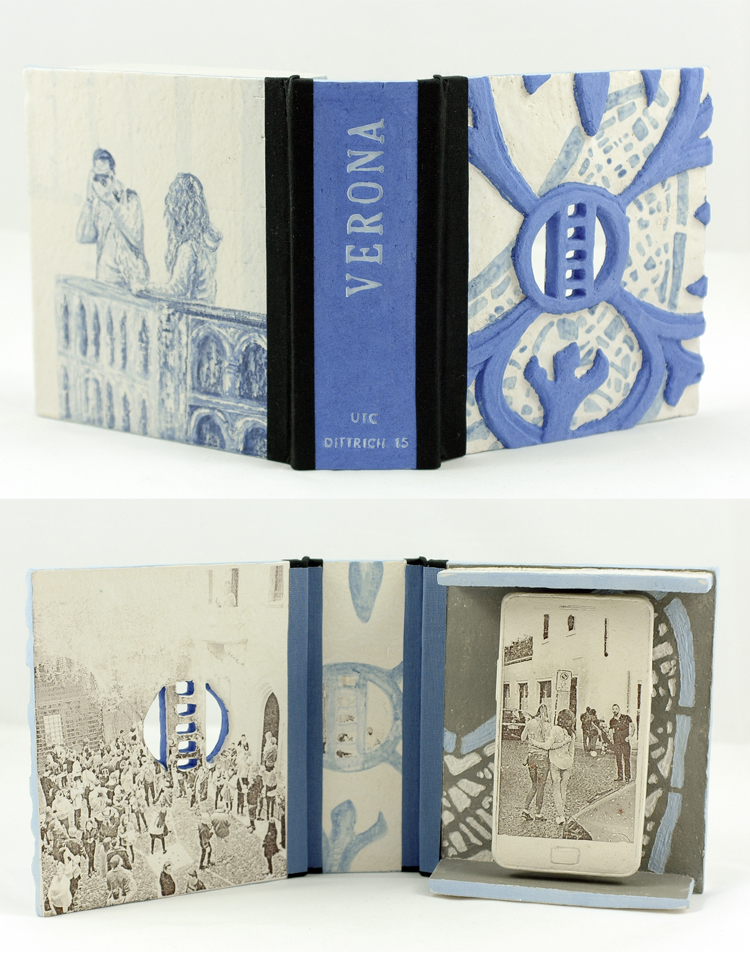 Verona, Urban Treasure Collection, ceramic, underglaze, glaze, Costum Decals, linen bookcloth, 2016, 680 €