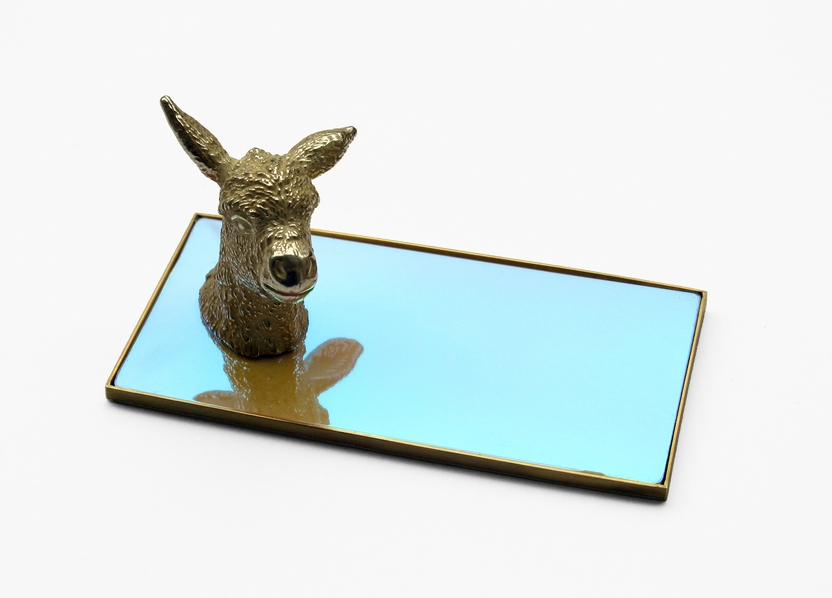 trophy pt.3 -it's a donkey! silver galvanoplasty, steel, brass, irisfilm, 2016, 545 €