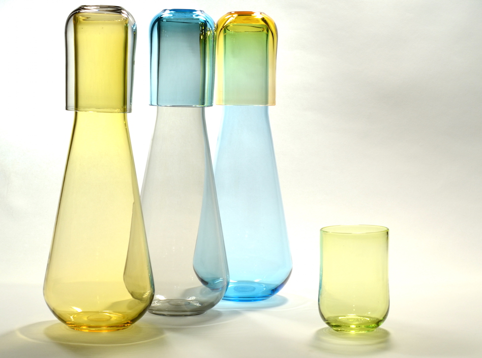 carafe with glasses, set