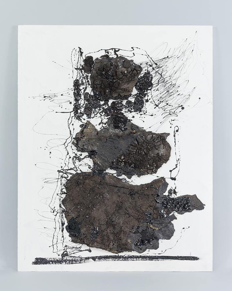 Assoziation Haut 1, roofing cardboard, Holz, 2012, 105 x 83 cm, 4.200 €