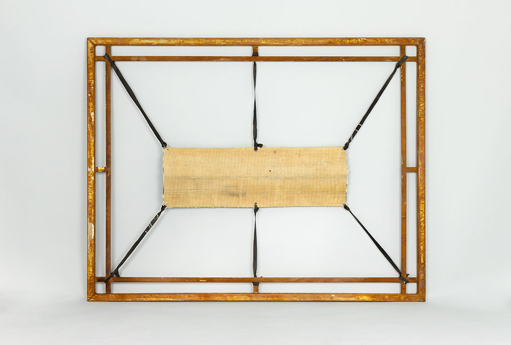 Assoziation Haut 4 backside, steel, textile, 2013, 136 x 106 cm, 3.200 €