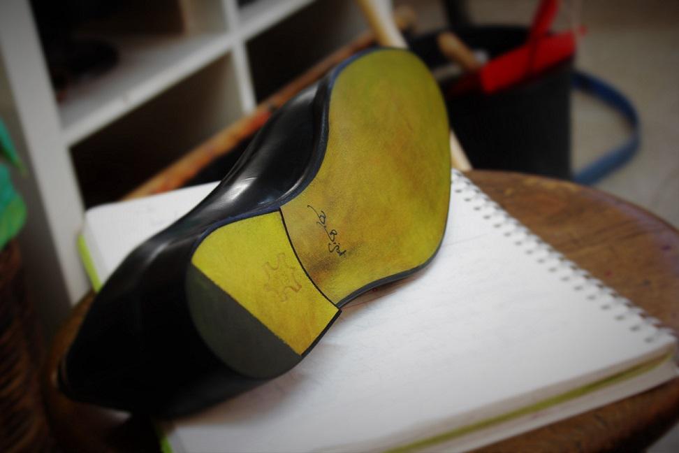 Schuh Rückseite