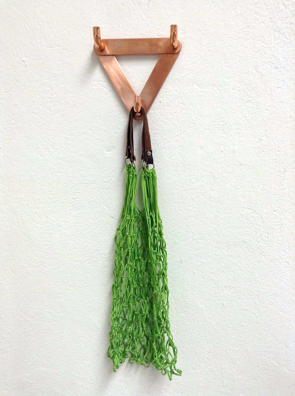 wall hook, recycling copper, fastener, 15 x 13 x 4 cm, 2015, 65 €