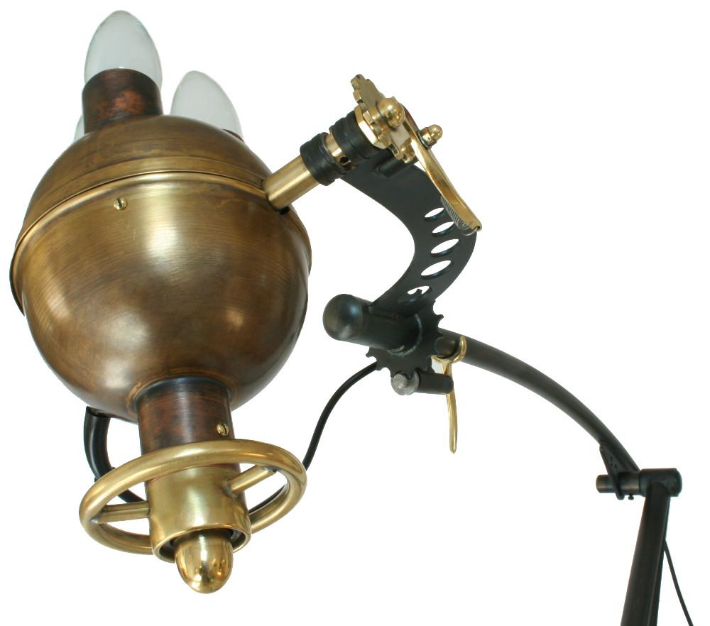 Kopf Sputnik Stehleuchte