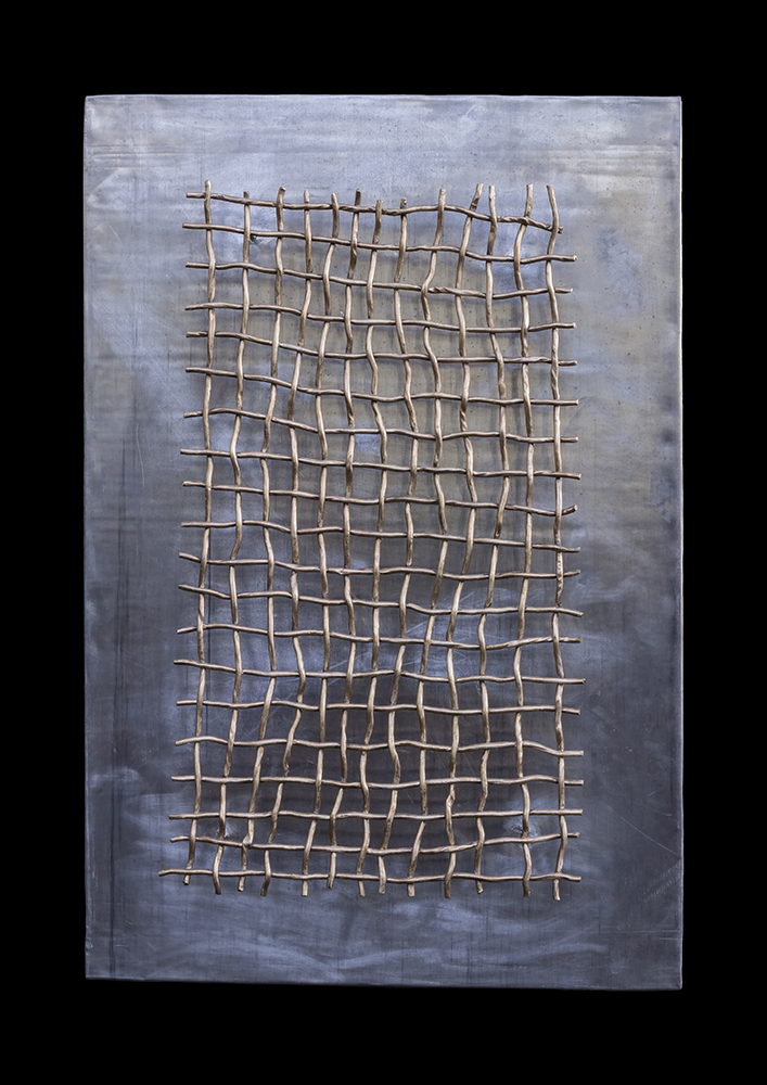 Lebensfenster 4, bronze & lead, 80 x 10 x 120 cm, 2015, 9.200 €