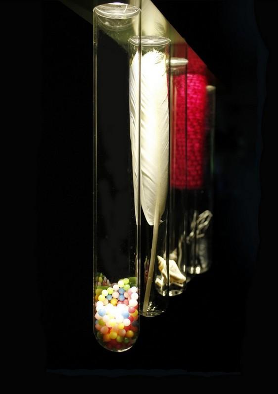Spandix III, Aluminium, Glaskolben, Stoff, Leuchtmittel, 2012, 1.200 €