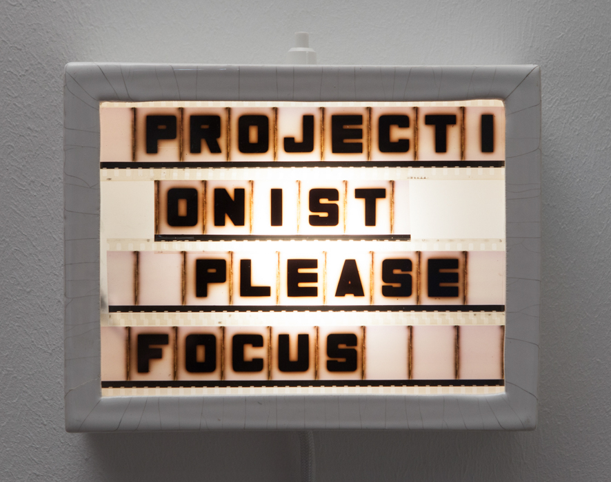 please focus, wall object, 19 x 15 x 6 cm, electricity 230 V (LED lamp GX 53), function: light, ceramic, 35 mm film, 2014, 380 €