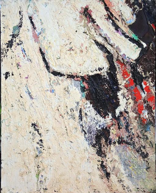 Stier, oil on cardboard, 25 x 32 cm, 1992, 350 €