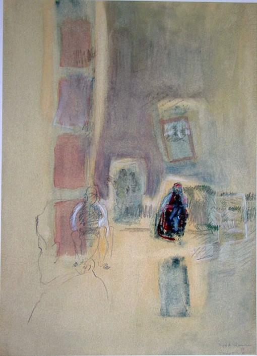 Tarot, jaxon chalk on paper, 45 x 63 cm, 1987, 450 €