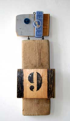 Schaf 9, relief, wood/plastic, 2009, 56 x 20 cm, 290 €