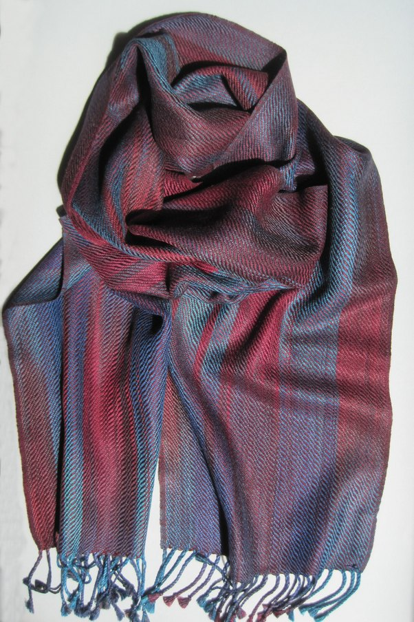 scarf purple blue