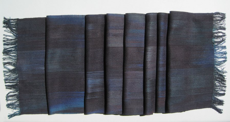 scarf indigo