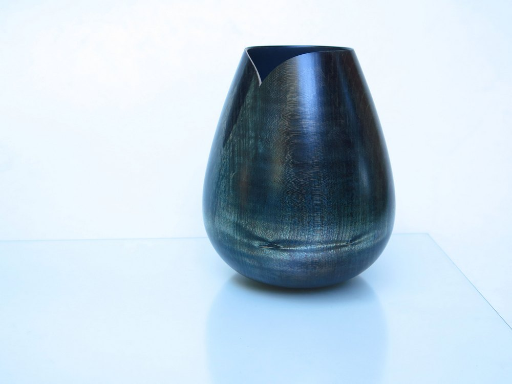 Vase blaugrün