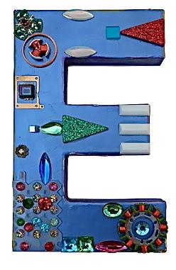 rod colori - Buchstaben, Zahlen, Fische und Objekte. from trash to treasure Rüdiger Möllering Kunst Design Handwerk