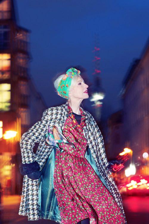 Vintage Designer Mantel Anna von Rüden Kleid