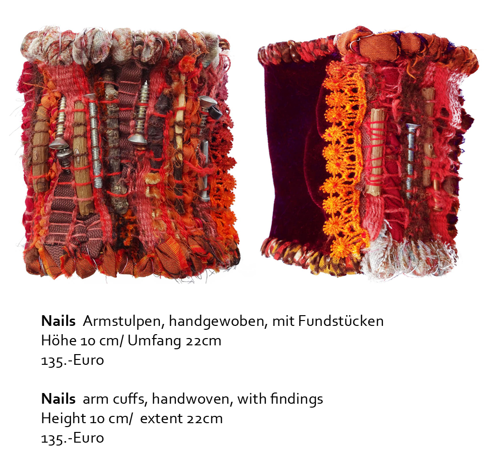 Mixed Media Objekte Illustrationen Accessoires Eva Lippert Textildesign Weben Sticken Stricken Collagieren Drucken Malen