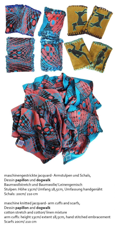 Mixed Media Objekte Illustrationen Accessoires Eva Lippert Textildesign Weben Sticken Stricken Collagieren Drucken Malen