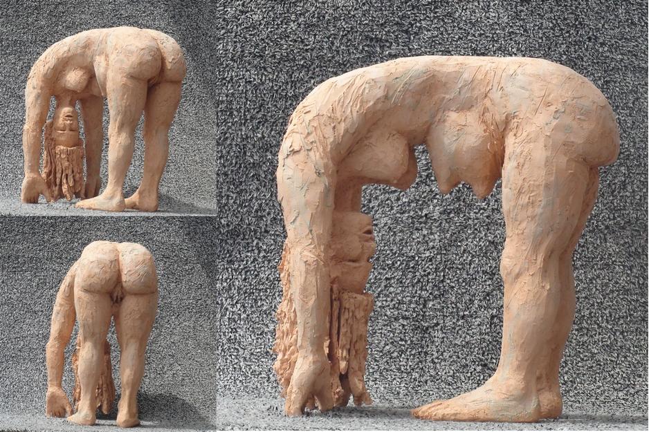 Andreas Brunolupo Berliner Bildhauer Ton Skulptur Art Brut Keramik Psychiatrie Frau Brüste