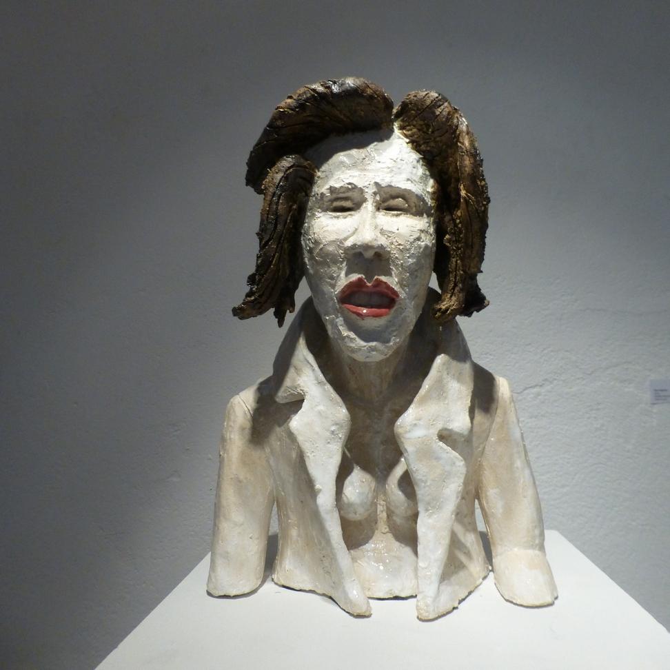 Andreas Brunolupo Berliner Bildhauer Ton Skulptur Art Brut Keramik Psychiatrie Kopf