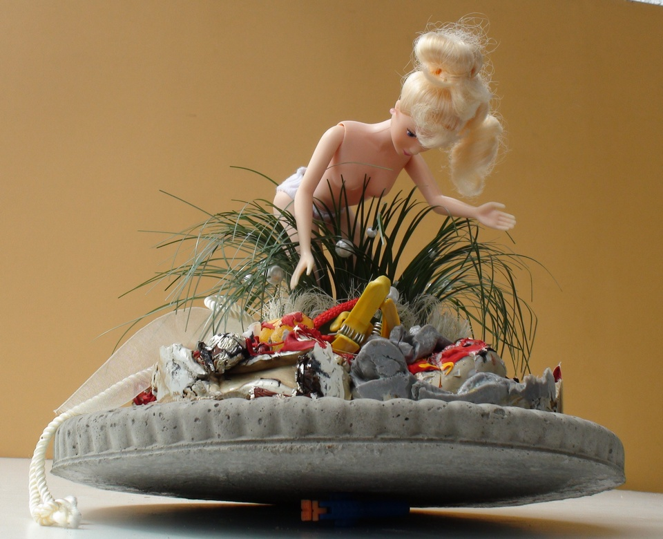 Barbie Andreas Brunolupo Berliner Bildhauer Ton Skulptur Art Brut Keramik Psychiatrie