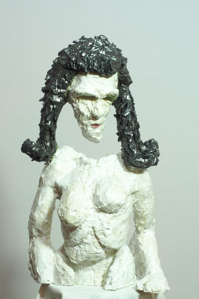 Kopf Andreas Brunolupo Berliner Bildhauer Ton Skulptur Art Brut Keramik Psychiatrie