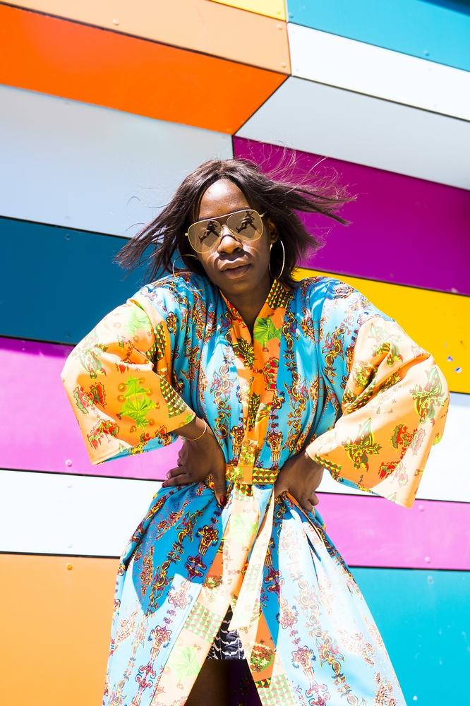 Kimono bunt Muster
