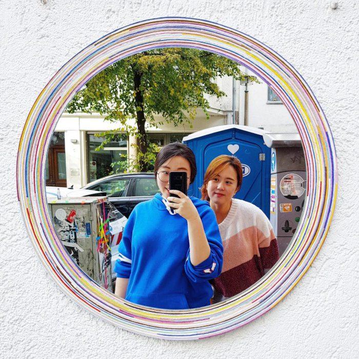 Spiegel Papier Poesie Galerie Paulina's Friends Südkorea