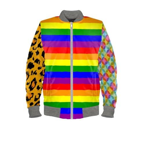 Bomberjacke Regenbogen gay Berlin