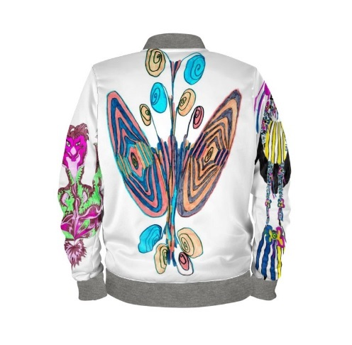 Bobmerjacke Unikat Schmetterling